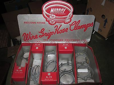 Rare Dealer Display for Wire Grip Hose Clamp w Clamps Murray Corporation