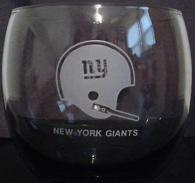 New York Giants 1970's Vintage Smoked Glass