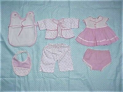 "6 Piece  Vintage 11"" Tiny Tears Clothing"