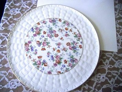 """Cherry Chintz Dorset China Porcelain Plate from Germany 11"""""""