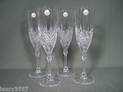 Crystal D'arques Four 5 3/4 Oz Fontenay Wine Glasses  Made In France