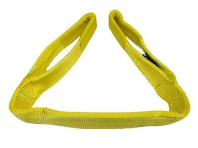 3 Ton x 1 Metre Duplex Web Sling - 90MM Yellow Strap Hoist Lifting Strop 3000KG