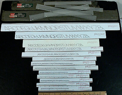 13 Keuffel and Esser K&E Leroy Lettering Numbering Drafting Templates Stencils