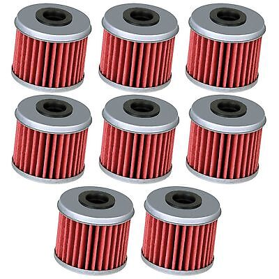 8 Oil Filter Filters for Honda CRF150R CRF150RB CRF250R CRF250X CRF450R CRF450X