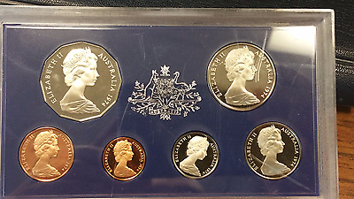 1974 Australia Mint Proof Six Coin Set Rare Low Mintage