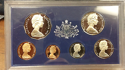 1975 Australia Mint Proof Six Coin Set Rare Low Mintage