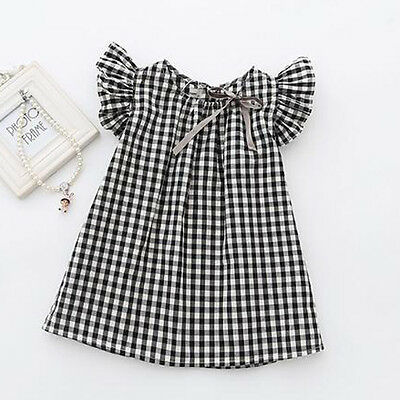 3-4Y Toddler Kids Baby Girls Summer Princess Dress Party Wedding Pageant Dresses