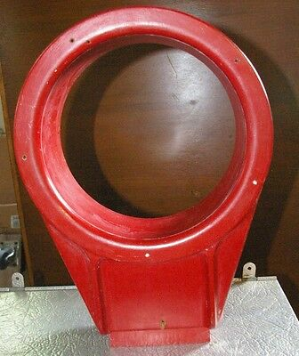 """Old Wood 14"""" tall Pattern Foundry Mold Round Housing Stands Upright Great Form!"""