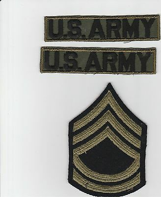 US ARMY Lot of 3 Diff. Patches Old WW2,Korea,Vietnam from a Vet's Collection