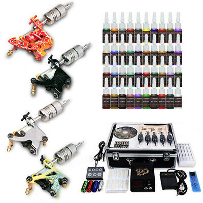 SET Kit completo de tatuar Tatuaje 4 maquina Machine 40 tinta tattoo tatuaje