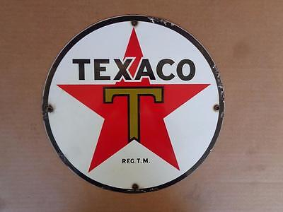 Porcelain Texaco Advertising Sign Gas Service Station Display Pump Sign