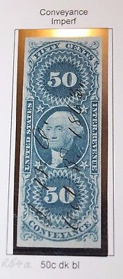 #R54a 1862 USA REVENUE 50C CONVEYANCE IMPERFORATED