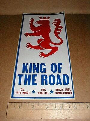 "10"" King Of The Road Oil Treatment vintage racing decal sticker for store rack ?"