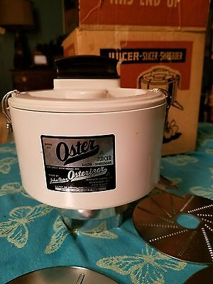 VINTAGE OSTER OSTERIZER JUICER ATTACHMENT #415  Very RARE With Box & Attachments