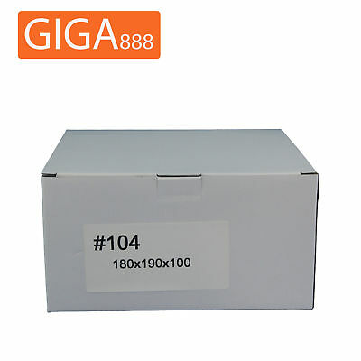 200 x Brand New Mailing Box 180x190x100mm Shipping Packing White Cardboard