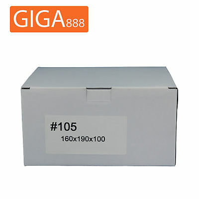 200 x Brand New Mailing Box 160x190x100mm Shipping Packing White Cardboard