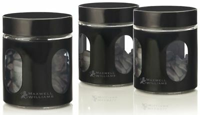 Maxwell & Williams Cosmopolitan Colours Canister Set (Black) 600mL Black