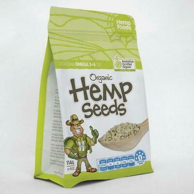 Hemp Seeds Organic Hulled 114g Australian Made Certified GMO FREE Paleo