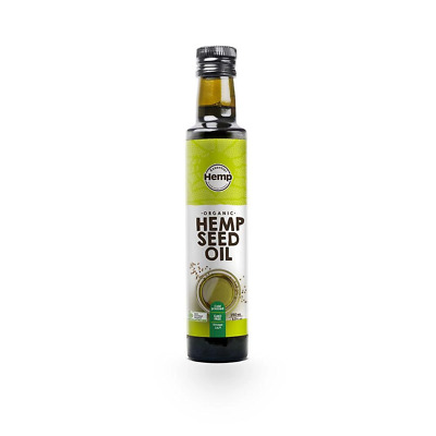 250ml Hemp Seed Oil - Organic Certified Food Grade Healthy Oils Bottle Foods