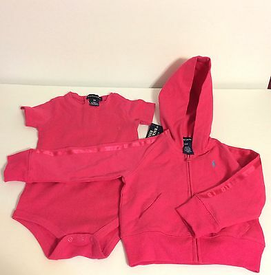 Ralph Lauren, Infant Baby Girl, 18M Pink Jumper And 24M Pink Long Sleeve Jacket