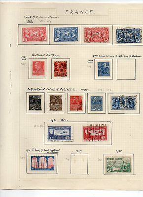 France - Vintage Collection Of Postage Stamps 1924 - 1935