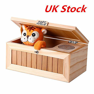 UK Useless Box Leave Me Alone Box Wooden Most Machine Don't Touch Tiger Toy Gift