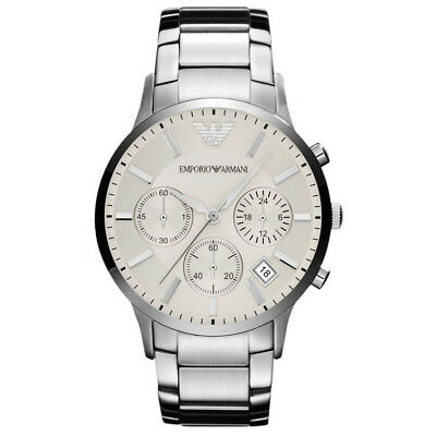 *new* Emporio Armani Ar2458 Mens Steel Chronograph Watch - Rrp £289.00