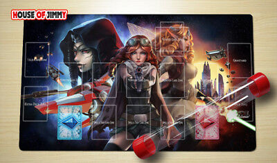 Yugioh Playmat Custom Made Play Mat Large Mouse Pad FREE TUBE C076