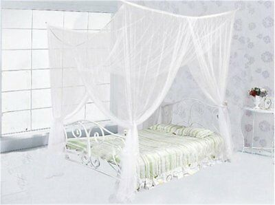 4 Corner Double Bed Canopy Mosquito Net Full Queen King Size Netting Bedding AU