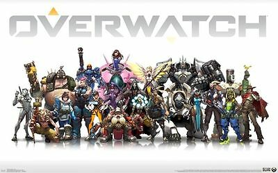 Overwatch Cast Gaming Poster