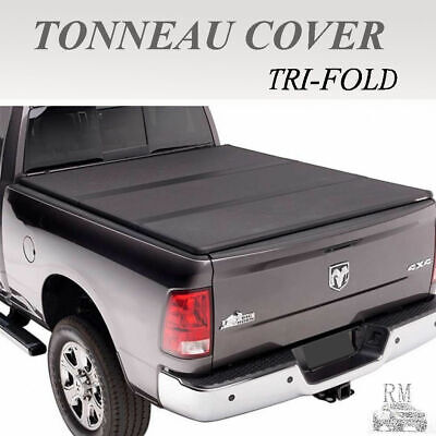 Motors For 2016 2018 Toyota Tacoma Lock Tri Fold Tonneau Cover 5ft Short Bed Black Truck Bed Accessories