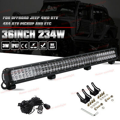 36inch 234W LED WORK LIGHT BAR FLOOD SPOT COMBO OFFROAD 4WD DRIVING JEEP Boat