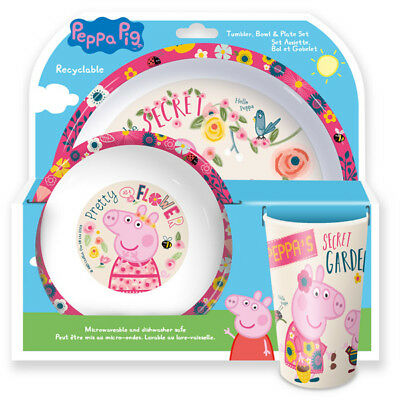 "Spearmark Disney Peppa Pig ""Garden"" 3 - Piece Dinner Tableware set"
