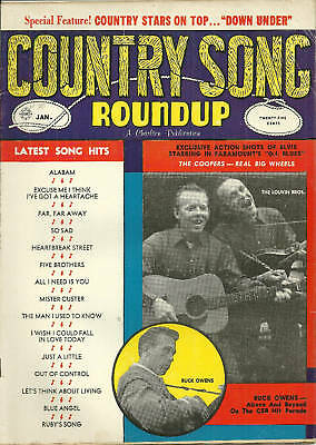 Country Song Roundup #70 Buck Owens January 1961 The Louvin Brothers The Coopers