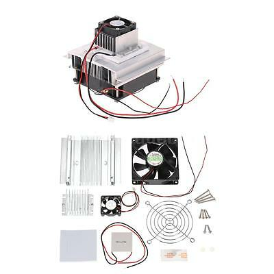 Thermoelectric Peltier Refrigeration Cooling System DIY Kit Cooler Fan Radiator