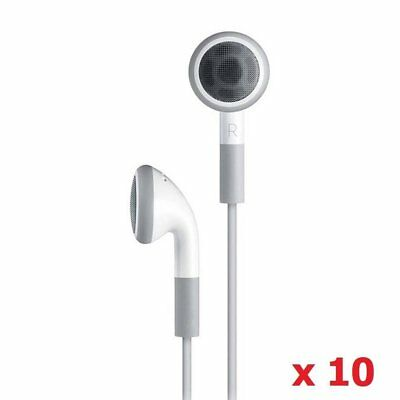 Wholesale 10 Pack Disposable Simple White Earphones Headphone Headset