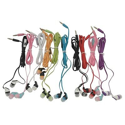 Kids 10 Pack Color Call with Mic  Earbud Earphones Headphones - Assorted Colors