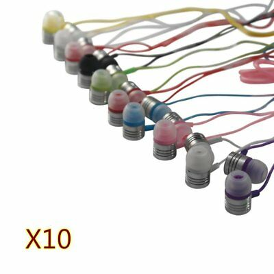 JustJamz Jelly Matte Colorful Earbud Headphones Stereo Multi Color 10 Pack