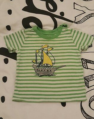 Baby GAP 6-12 months green striped top - good condition