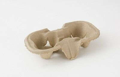 2 Cup Carry Trays Takeaway Cup Holders Cardboard Per 20,50,90,100,200, 300, 600