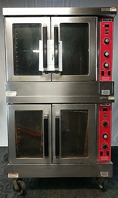Vulcan Hobart Snorkel Double Dual Stack Gas Convection Full Size Commercial Oven