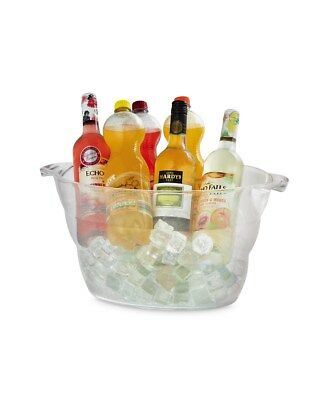 Large Ice Bucket Champagne Beer Drinks Pail Cooler Acrylic Plastic Large Oval