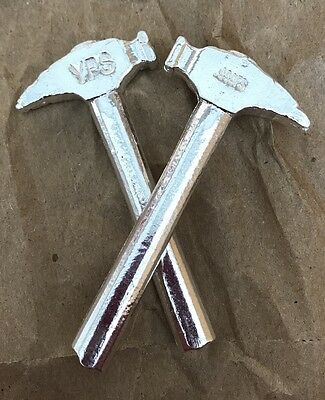 1oz Hand Poured 999 Silver Bullion Bar 4D Silversmith Hammer by YPS