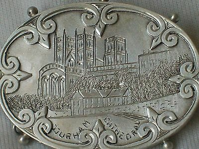 Old Antique Victorian Hallmarked Sterling Silver Brooch Durham Cathedral