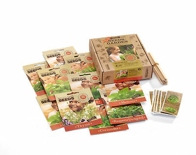 Herb Seed Garden- Box of Organic Non-GMO Seeds in Individual Envelopes