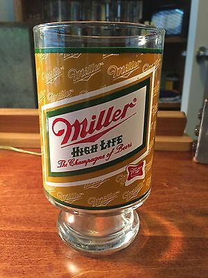 Vintage Miller High Life Beer 32oz Large Drinking Glass