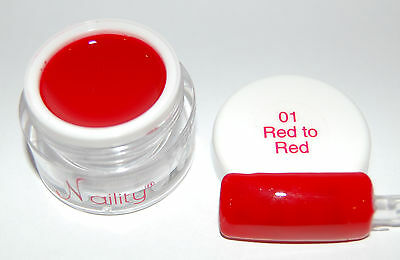 Color Gel UV/CCFL/LED  7ml red to red n°01 Naility  USA gel de couleurs