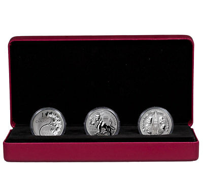 2017 Canadian Lore Forgotten 1927 Designs 1 oz. Silver Rev Proof 3-Coin SKU47752