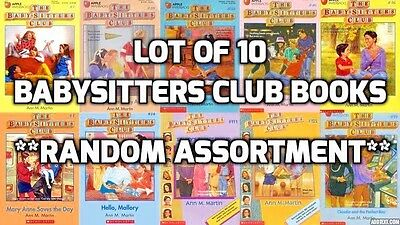 Lot of 10 Babysitters Club books - random titles *mix unsorted*  Ships free!