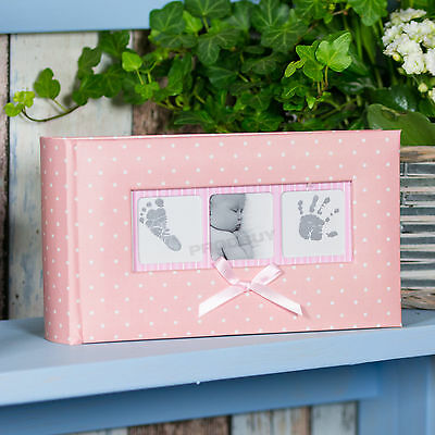 "Baby Girl Pink White Polka Dot Photo Album 100 Photographs 6"" x 4"" Picture Book"